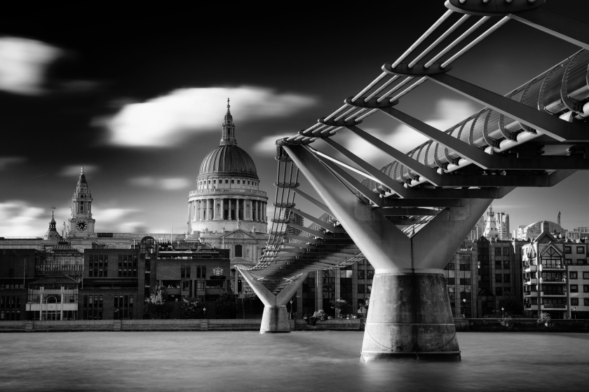 The Millennium Bridge, officially known as the London Millennium Footbridge, it is a footbridge that links Bankside with The City of London.