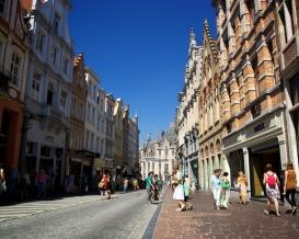 Blue skies of Bruges.