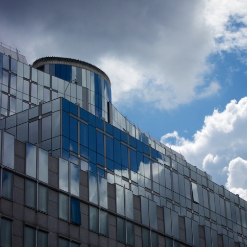 Clouds enter the EU building