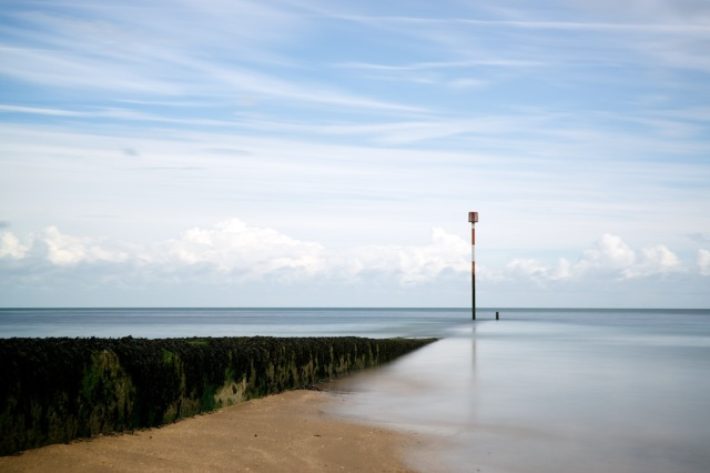 This shot is a long exposure, I managed to get the shot before the rising 'Ebb Tide' trapped me on the beach