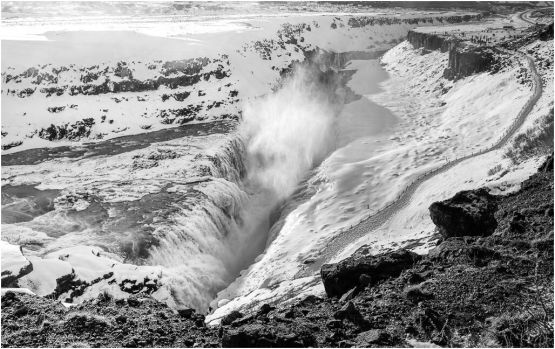 Gullfoss (Golden Waterfall) is an iconic waterfall of Iceland offering a spectacular view of the forces and beauty of untouched nature.