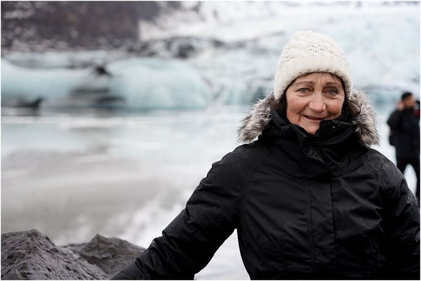 Barbara at the glacier