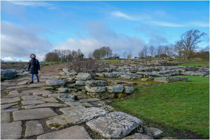 Barbara at Vindolanda