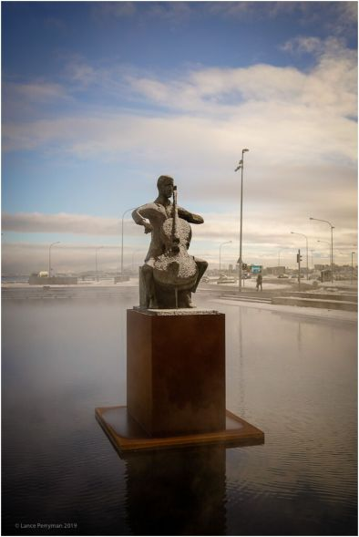 Statue outside the Reykjavik Concert Hall