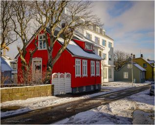 Red house in Reykjavik