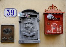 Letterboxes in Fiesole.