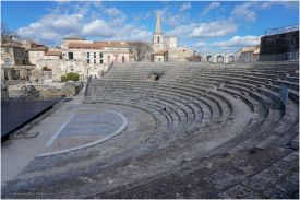The theatre is a 1st-century Roman theatre, built during the reign of Emperor Augustus.