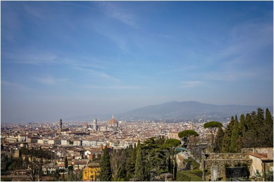 Thye view from the Piazza Michelangelo.