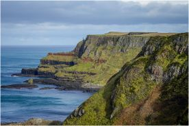 Looking across the bays of the Giant's Causeway.