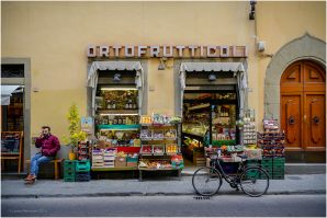 One of the many small fruit shops around the side streets.