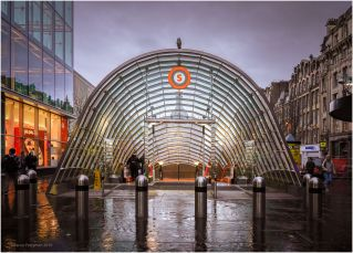 St Enoch subway station received new glass canopies for each entrance, and an overhaul of the ticket hall during a refurbishment of the City's subway.