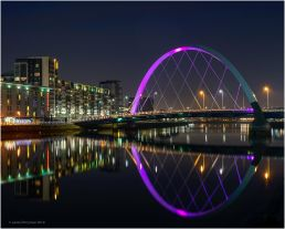 The Clyde Arc which is known locally as the Squinty Bridge was opened in 2006.