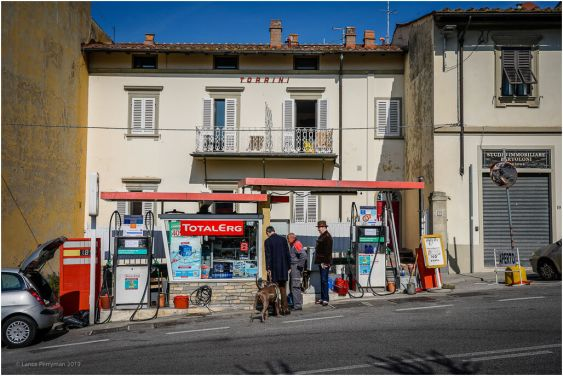 This little petrol station is in the main street of Fiesole.