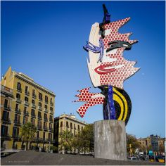 The Head of Barcelona, created by American Pop artist Roy Lichtenstein for the 1992 Summer Olympics in Barcelona.