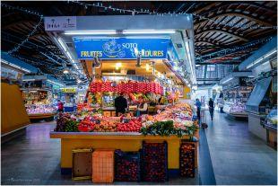 A fruit stall at the Santa Caterina Market.